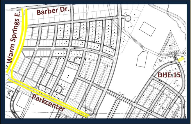 As a continuing beautification project Harris Ranch ownership is paying for 20,000 daffodils to be planted along the roads and in a grassy area by DHE 15. The areas highlighted in yellow depict where the new daffodil bulbs will be planted. Watch for them this spring!